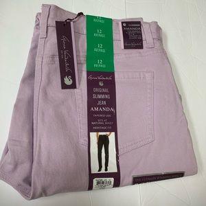 Gloria Vanderbilt Lilac Amanda Slim Jeans Sz. 12